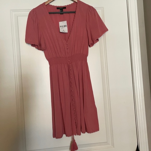 Forever 21 Rose Button-down Dress